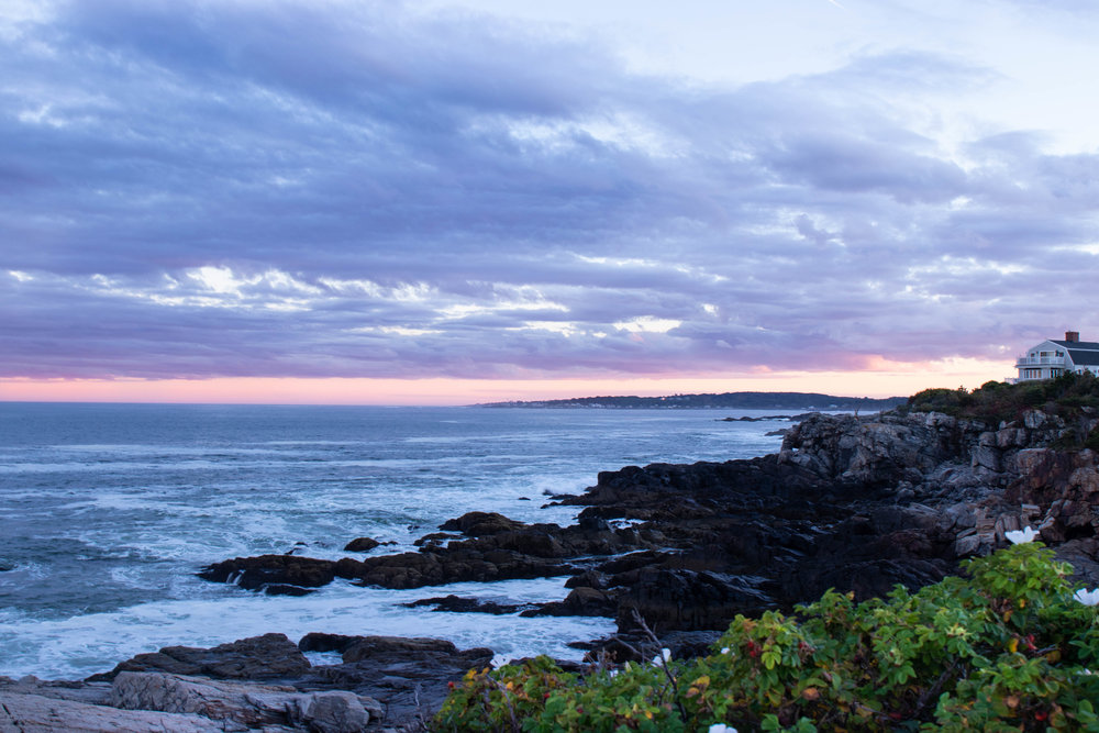 Landscape photo of the Portland Headlight Light House during sunset in Portland, ME by Vision Balm in Charleston, SC.