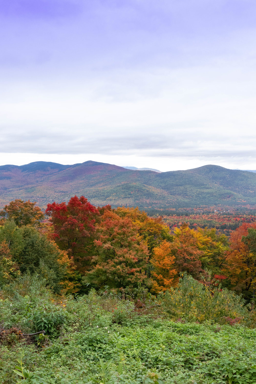 Landscape photo of the fall foliage along the Kancamagus Highway in North Conway, New Hampshire by Vision Balm in Charleston, SC.