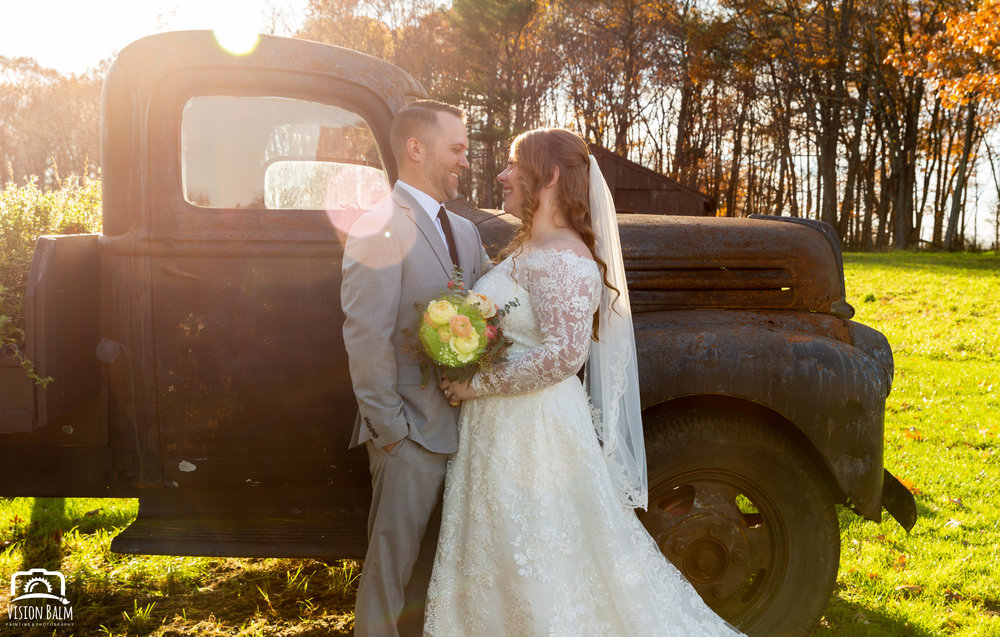 Wedding formal photo of bride groom in Zuka's Hilltop Barn by Vision Balm in Charleston, SC.