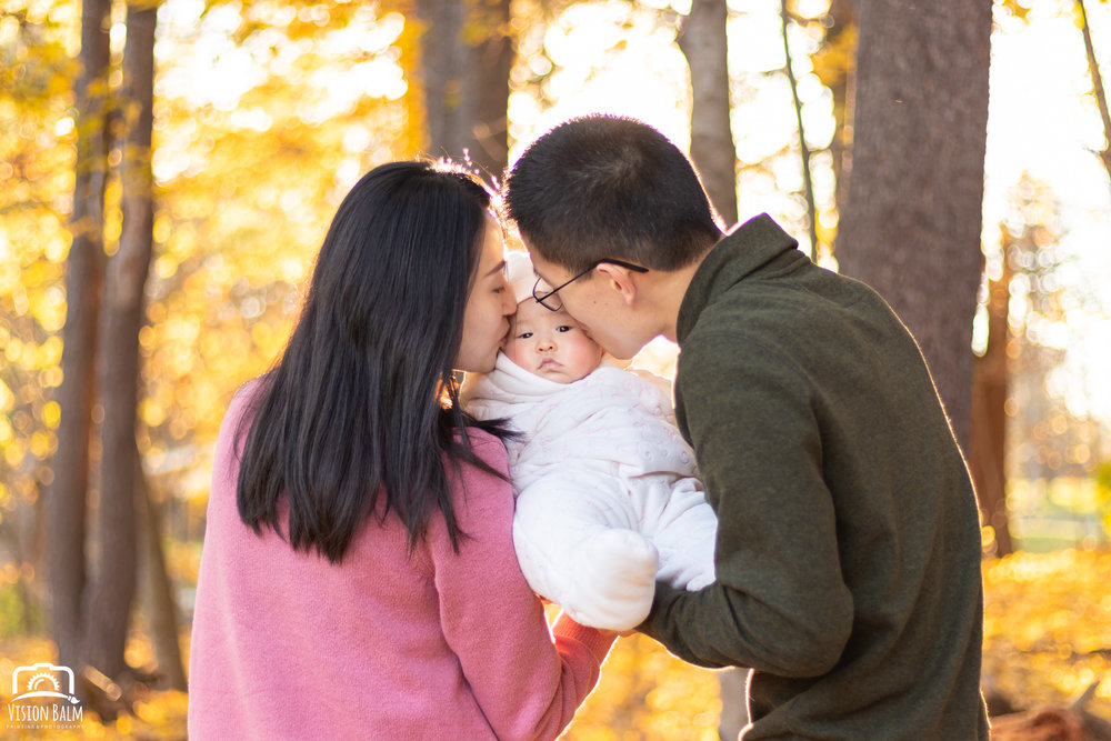 Fall family portrait photographed by Vision Balm in Charleston, SC.