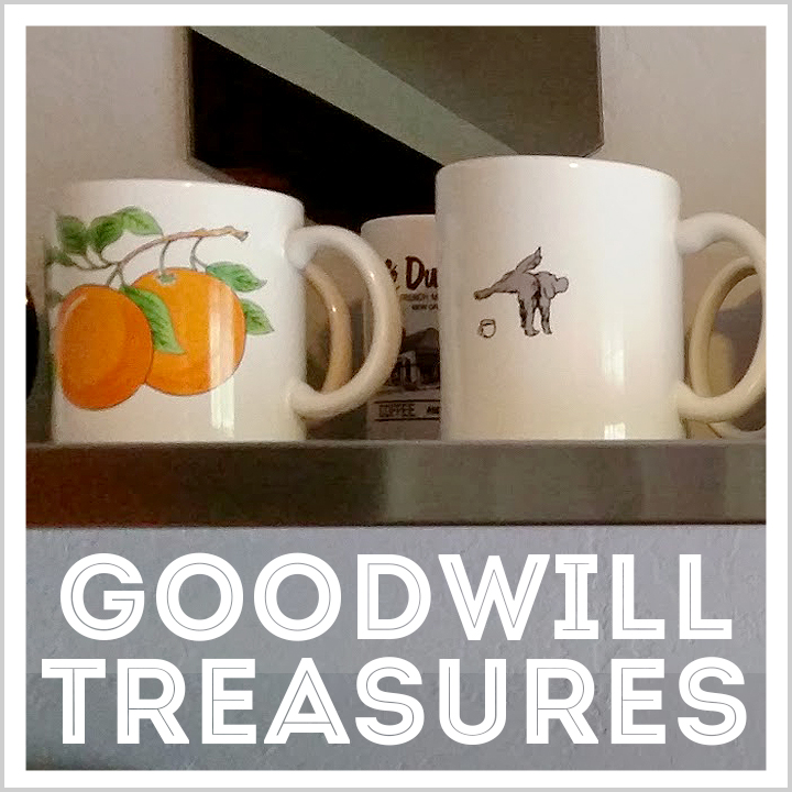 coffee mugs #goodwilltreasures