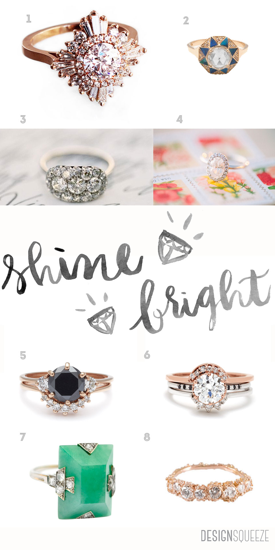 Shine Bright Like A Diamond: engagement ring round up