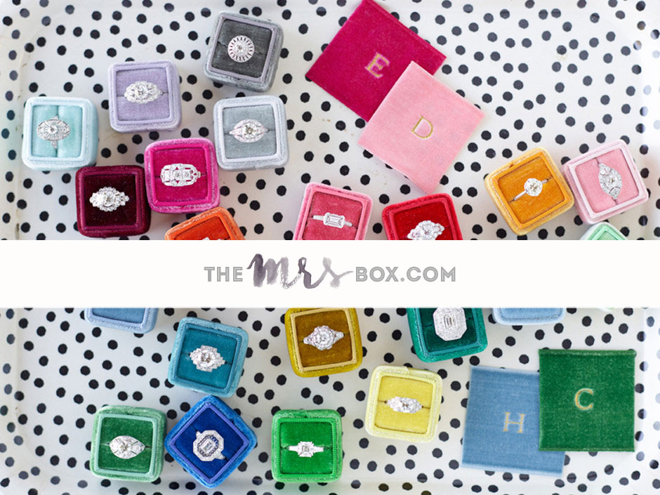 The Mrs. Box is the ideal ring box for popping the question