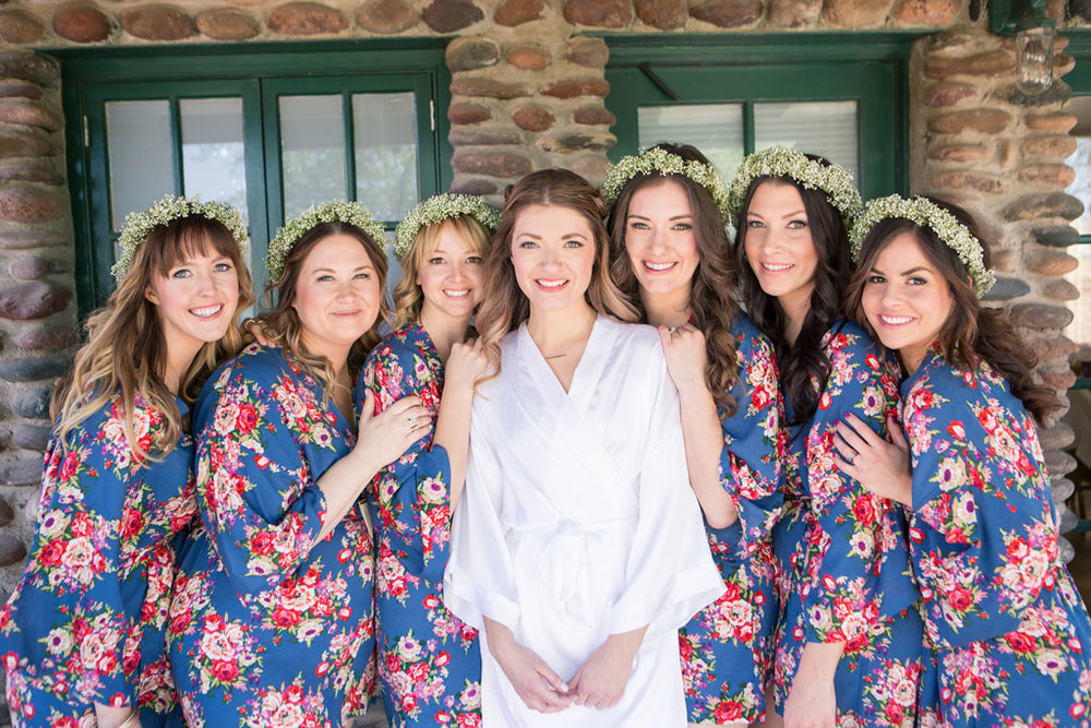 bohemian-bridesmaids-in-flower-robes