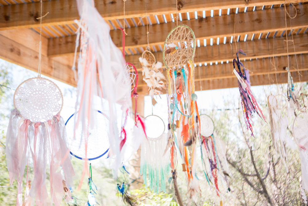 bohemian wedding dreamcatchers