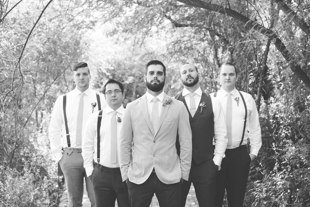 groomsmen in pops of yellow