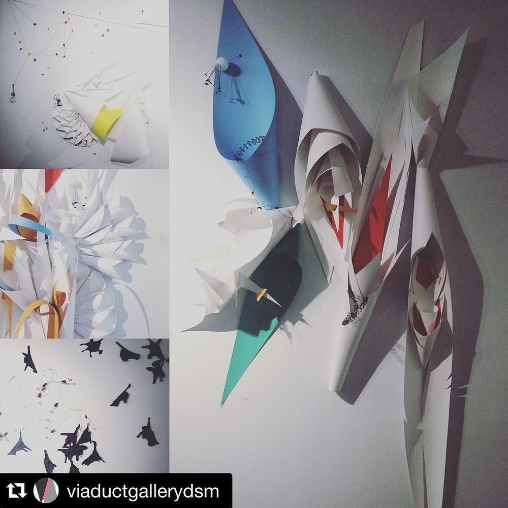 #Repost @viaductgallerydsm  ・・・  Heather Whittlesey's exhibit, Endorphins, is only up for a few more days! Be sure to stop by and see it! #localart #desmoines #viaductgallery #exhibit #artbeacondsm by artbeacondsm  http://ift.tt/1QiYmED