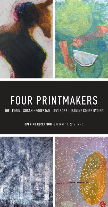FOUR PRINTMAKERS at Olson Larsen Galleries this Friday, February 13th from 5-7