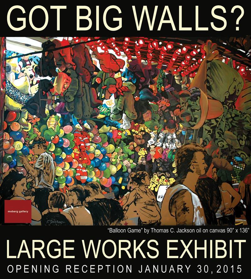 Large Works Group Show, Moberg Gallery ,Opening Reception January 30th, 5-8PM