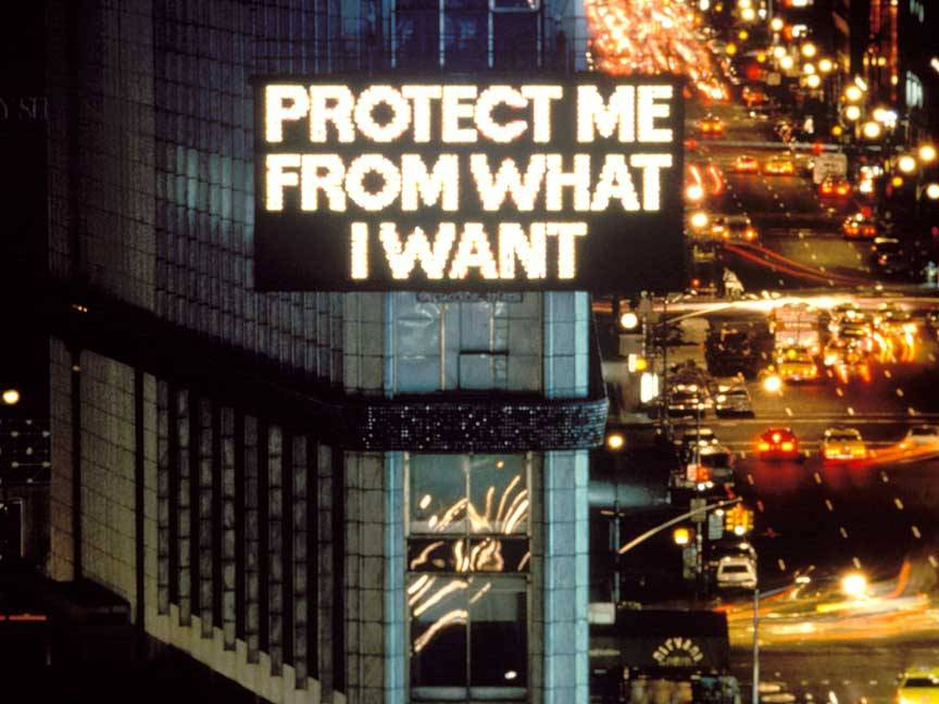 cavetocanvas :     Jenny Holzer,  Protect Me From What I want,  1983-85