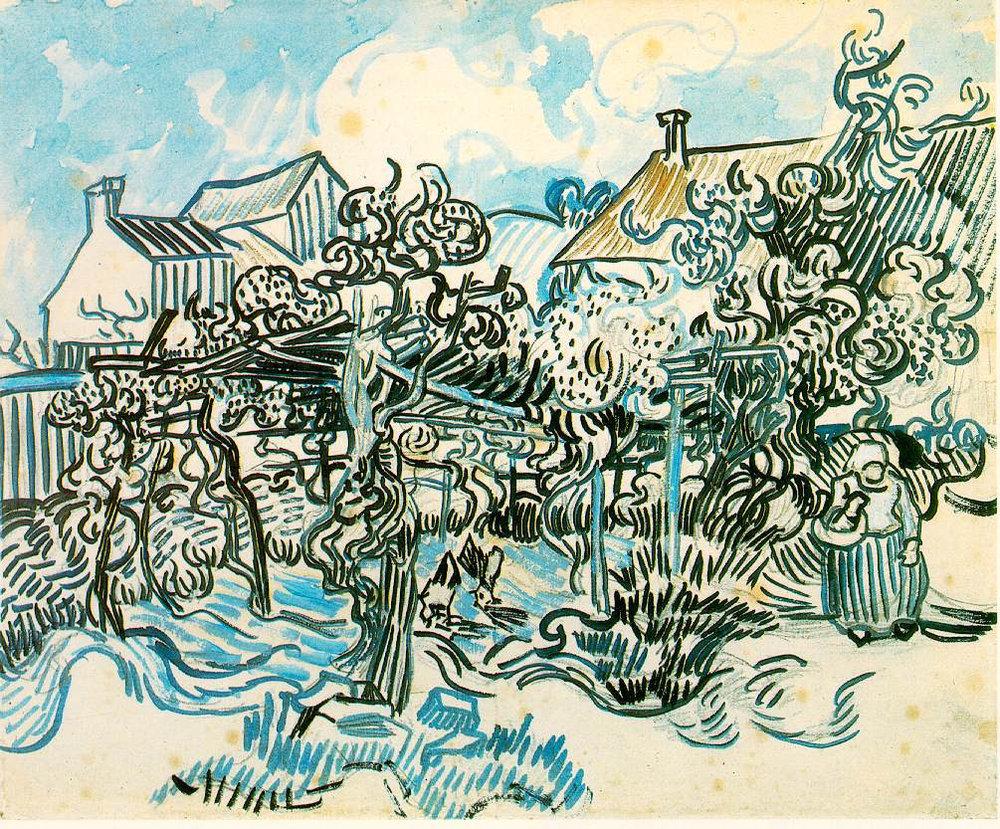 chloefrancillon :      Old Vineyard with Peasant Woman  by Vincent van Gogh (1890)