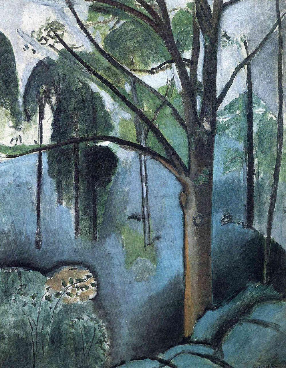 likeafieldmouse :      Henri Matisse  -  Trivaux Pond  (1917)