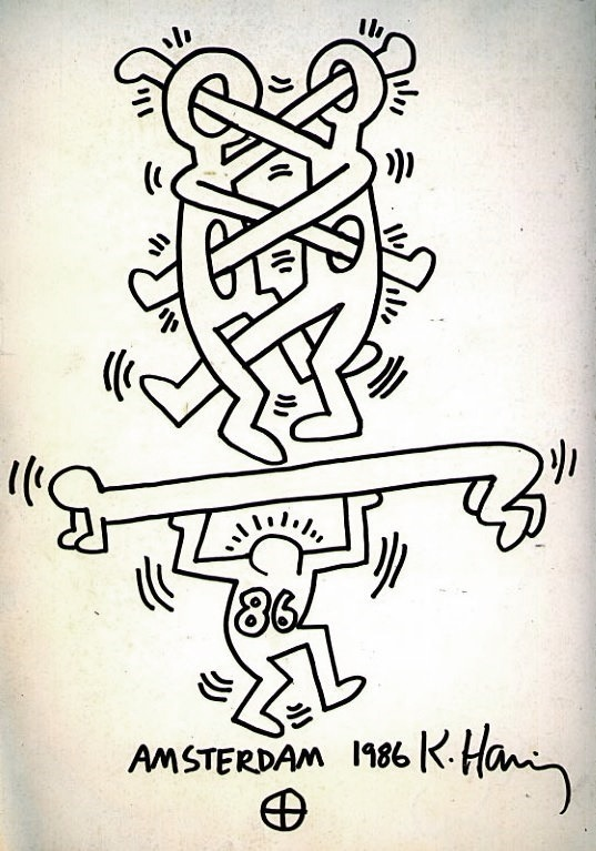 pizzzatime :       miss-catastrofes-naturales :  Keith Haring -  Amsterdam (1986)