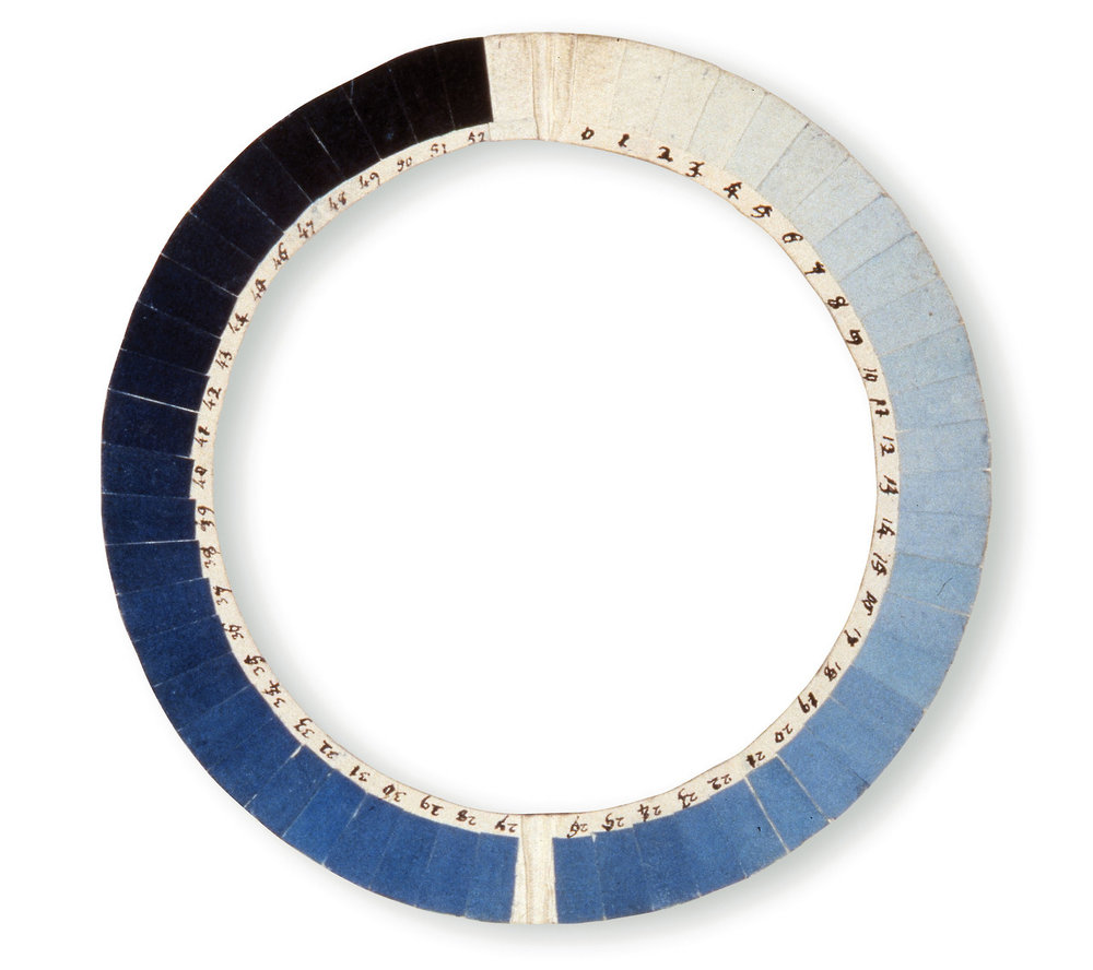 nprfreshair :     18th century instrument to determine the sky's 'blueness' called a Cyanometer:      The simple device was invented in 1789 by Swiss physicist  Horace-Bénédict de Saussure  and German naturalist  Alexander von Humboldt  who used the circular array of 53 shaded sections in experiments above the skies over Geneva, Chamonix and Mont Blanc.      via  This is Colossal