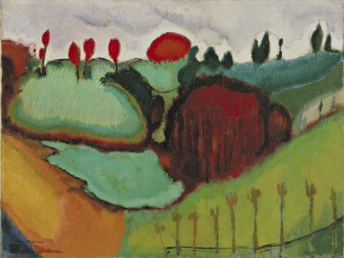 artmastered :     Marcel Duchamp,  Landscape , 1911