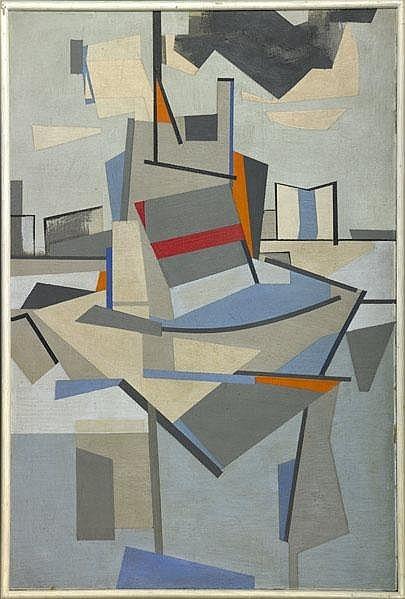workman :      thirdorgan :    Carl Holty  / Untitled-factory, 1943