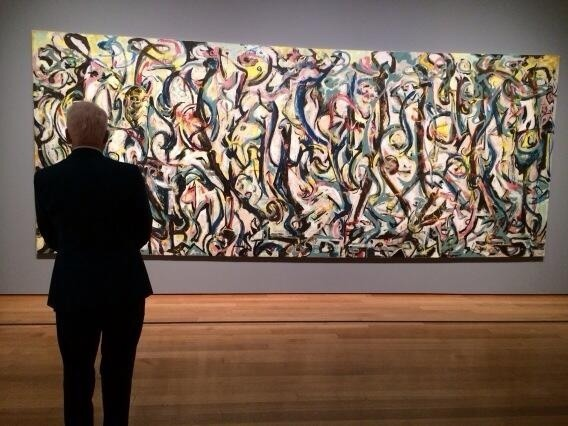 """@SteveMartinToGo: Got to spend some alone time with Jackson Pollock's masterpiece """"Mural.""""   The painting won.  http://t.co/dn3AJ8t3Tc"""