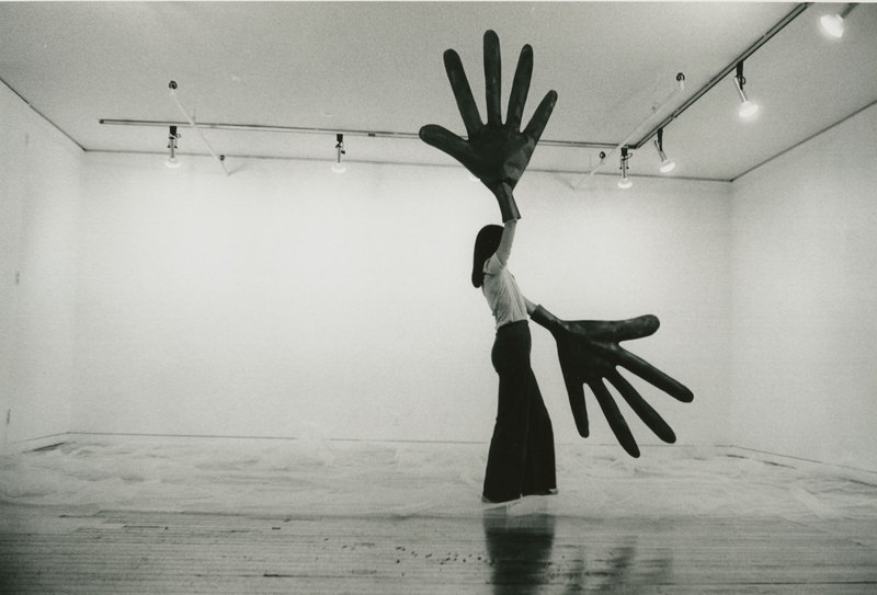 Sylvia Palacios Whitman (b. 1941), Passing Through, performance at Sonnabend Gallery, New York, May 20, 1977. Courtesy the artist. Photograph by Babette Mangolte; © 1977 All reproduction rights reserved  (SOURCE)