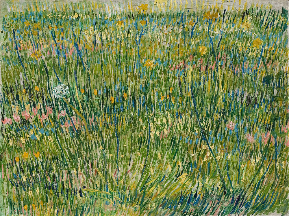 dappledwithshadow :      Patch of Grass , Vincent van Gogh   1887     Yes so good.