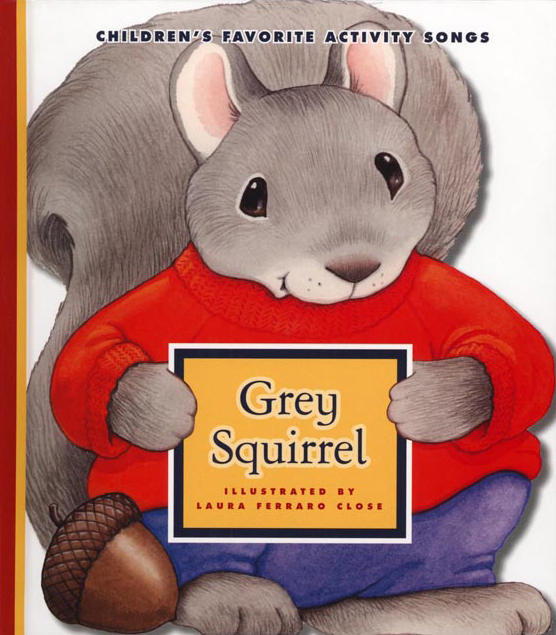 Grey Squirrel illustrated by Laura Ferraro Close