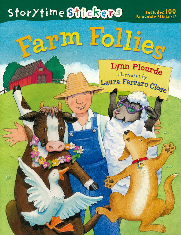 Farm Follies sticker book illustrated by Laura Ferraro Close
