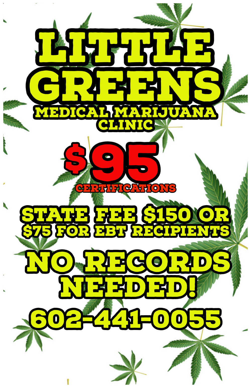 WE OFFER THE LOWEST PRICE FOR MEDICAL MARIJUANA CARDS IN ARIZONA.