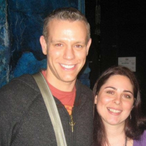 Backstage at  Memphis  with Memphis, RENT, and AIDA star Adam Pascal.