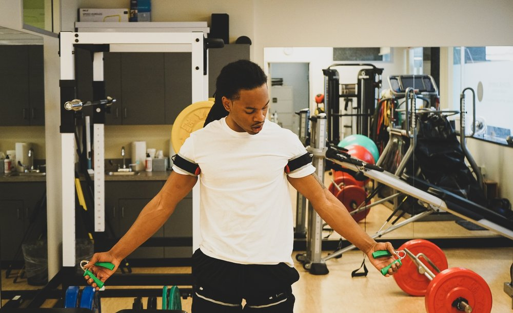 Blood Flow Restriction Therapy - -Blood Flow Restriction Physical Therapy is a ground-breaking specialized strength training therapy used to expedite patients' healing through stimulating the body's own restorative power.