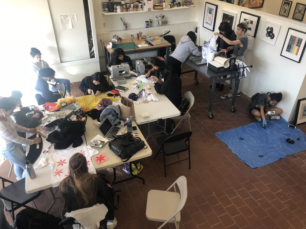Fashion design program in [x]space, 2018