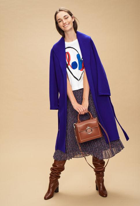 Blue long coat from Claudie Pierlot