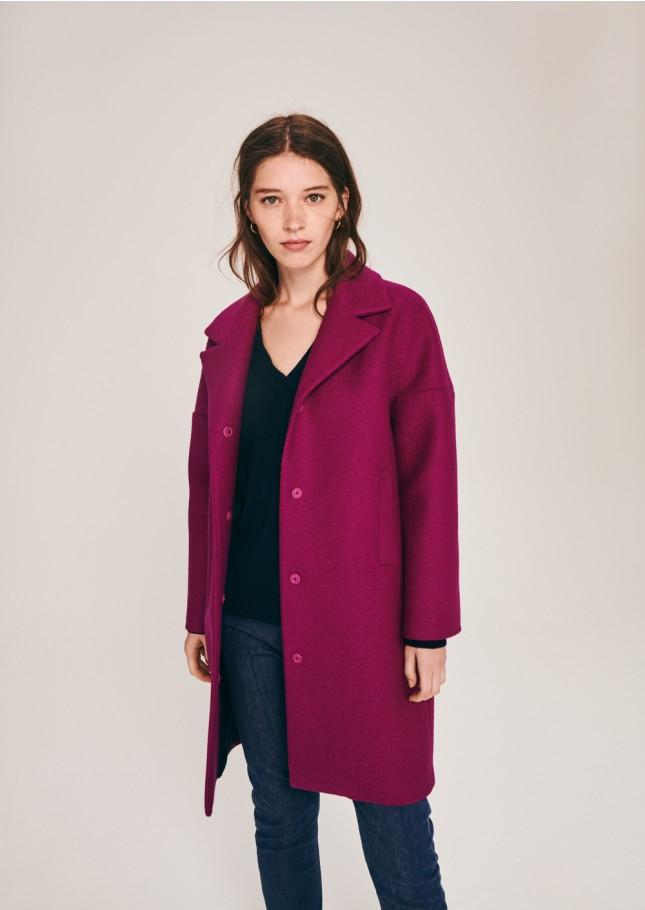 Mauve coat from Tara Jarmon