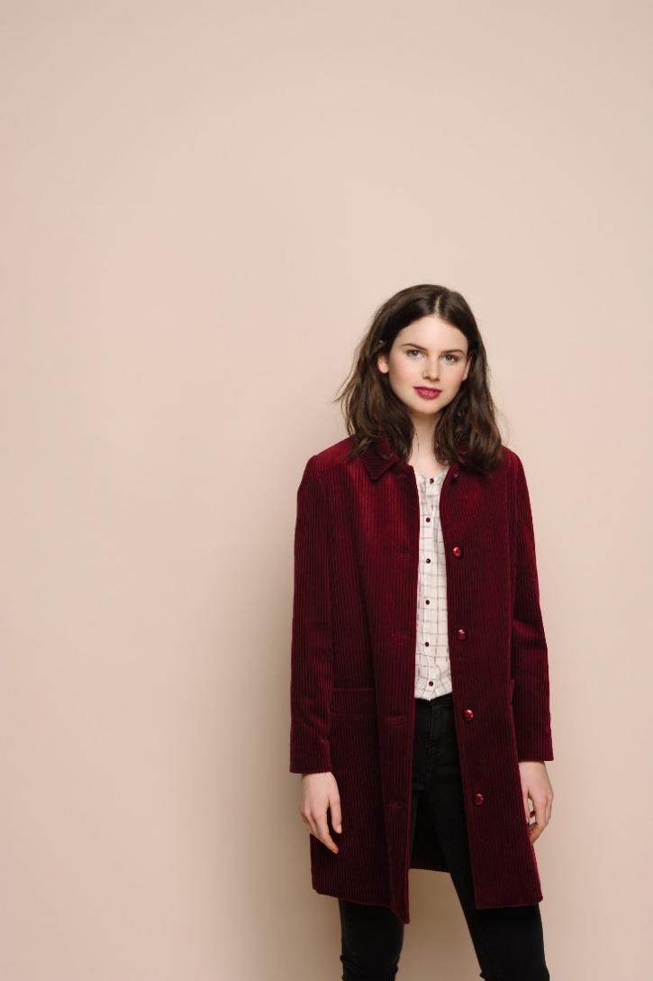 Manteau couleur vigne Des Petits Hauts