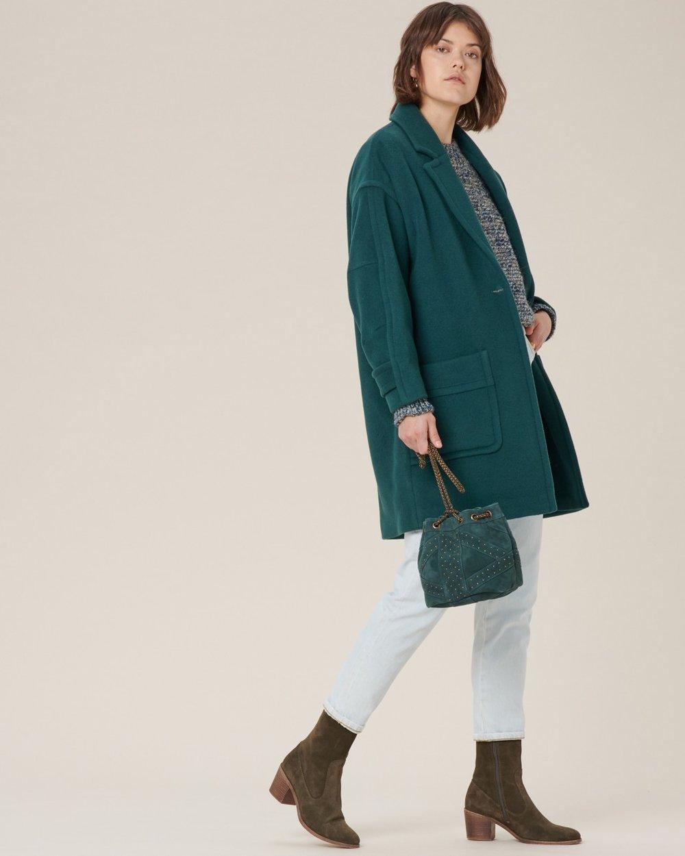 Green oversized coat from Sessùn