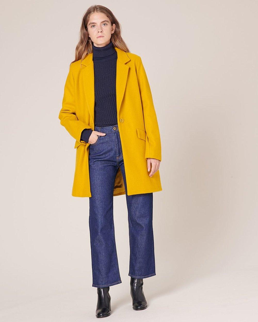 Yellow wool coat from Sessùn