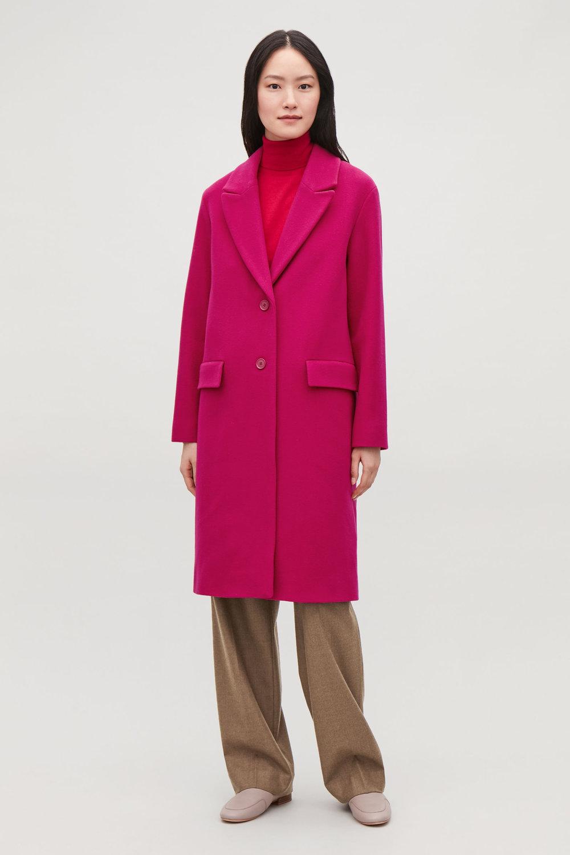 Fuchsia long coat from COS
