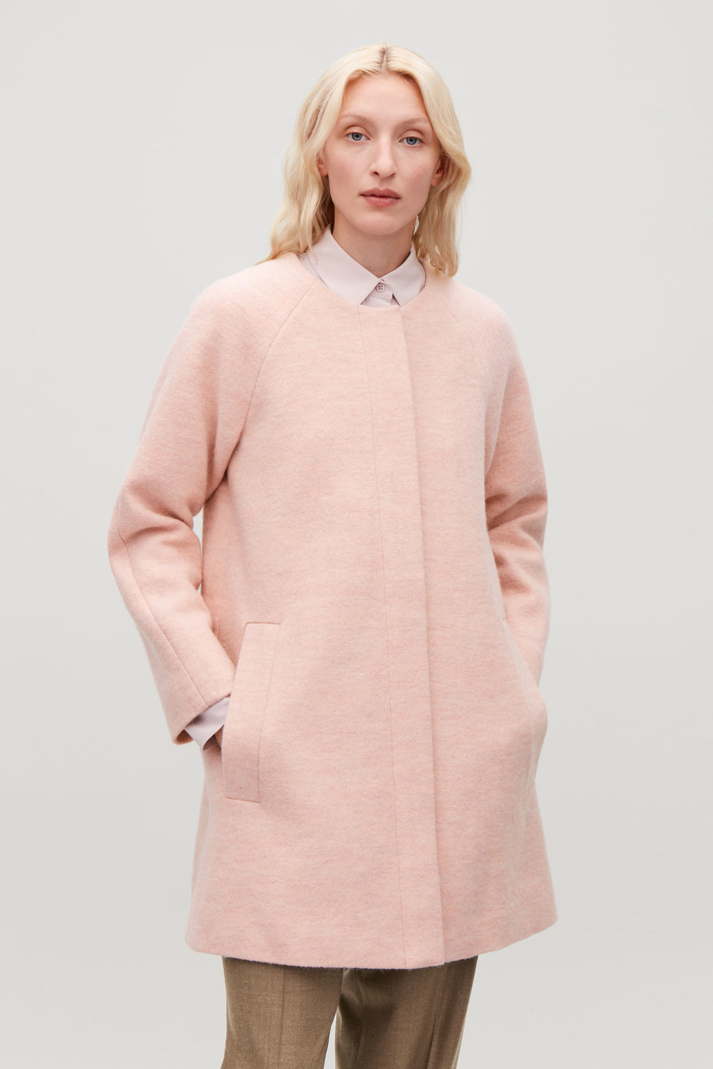 Pale pink coat from COS