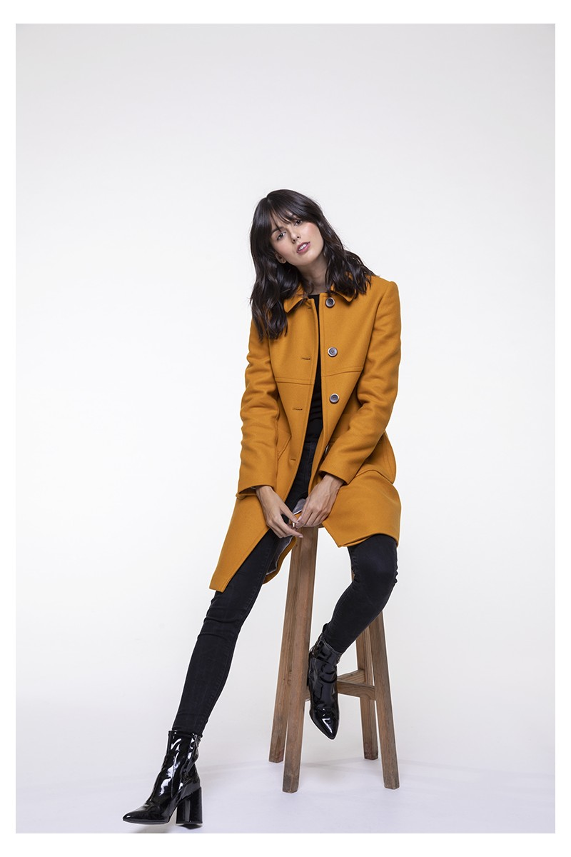 Retro yellow coat from Trench & Coat