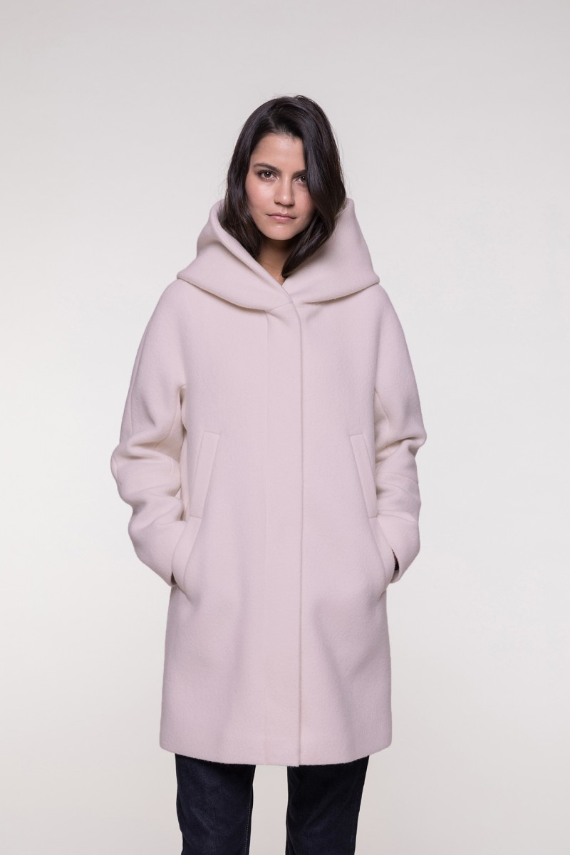 Pink hooded coat from Trench & Coat
