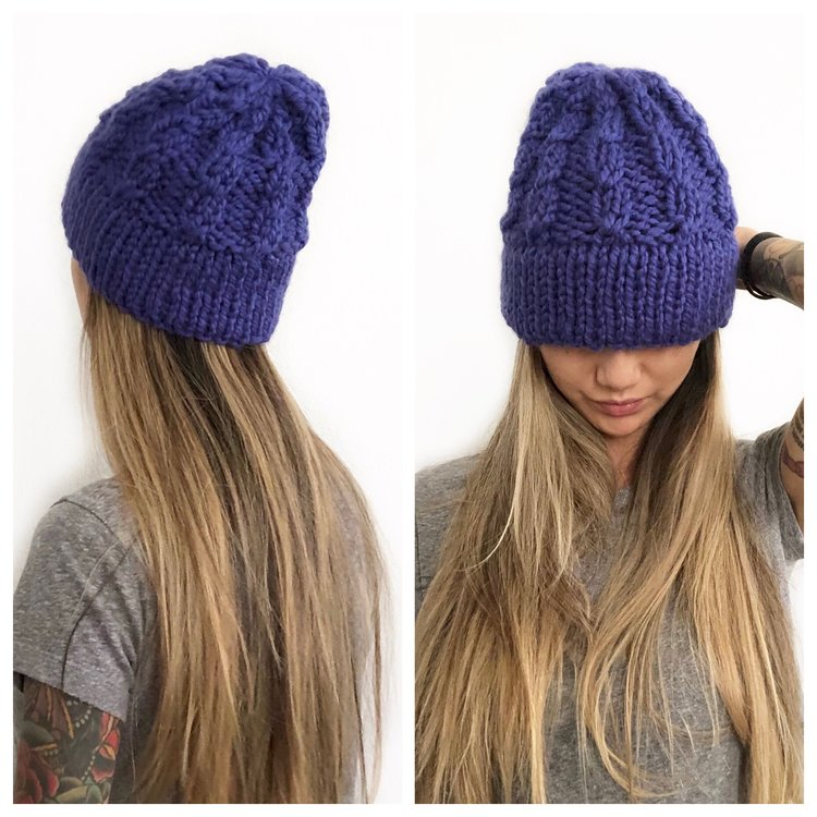 05da0b74388 The Juniper Lake Beanie was inspired by my love of cabled stitches and also  for the fact that I m not very good at actually knitting them.