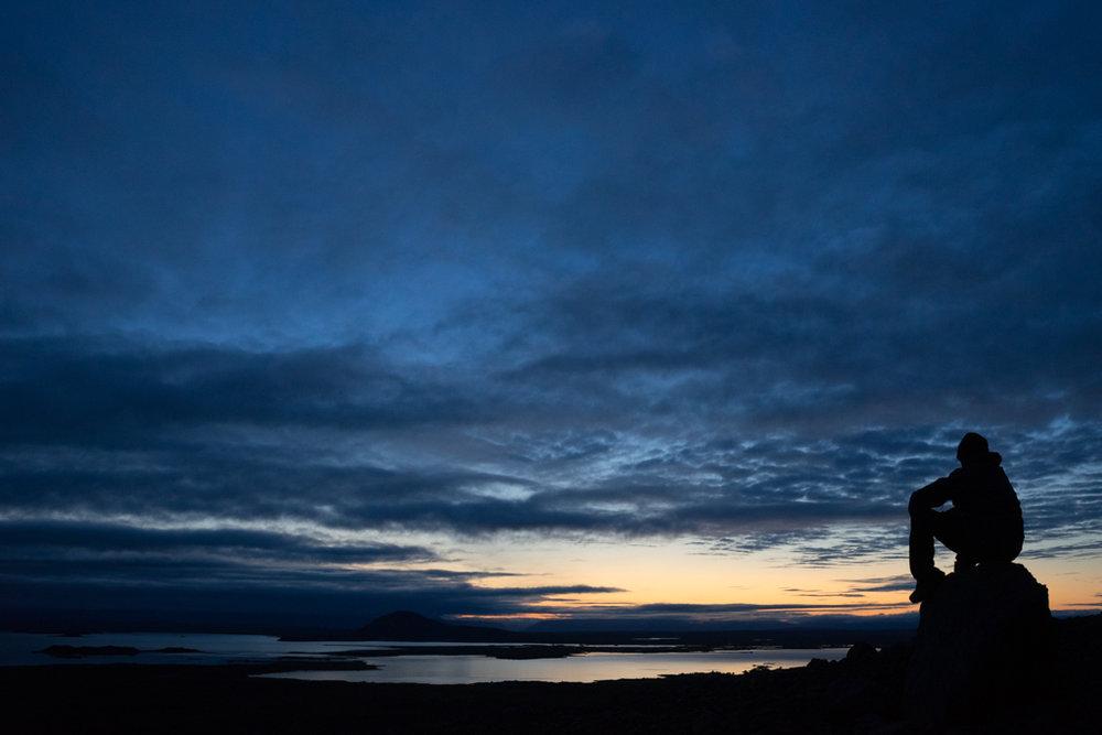 Coucher de soleil au Lac Myvatn