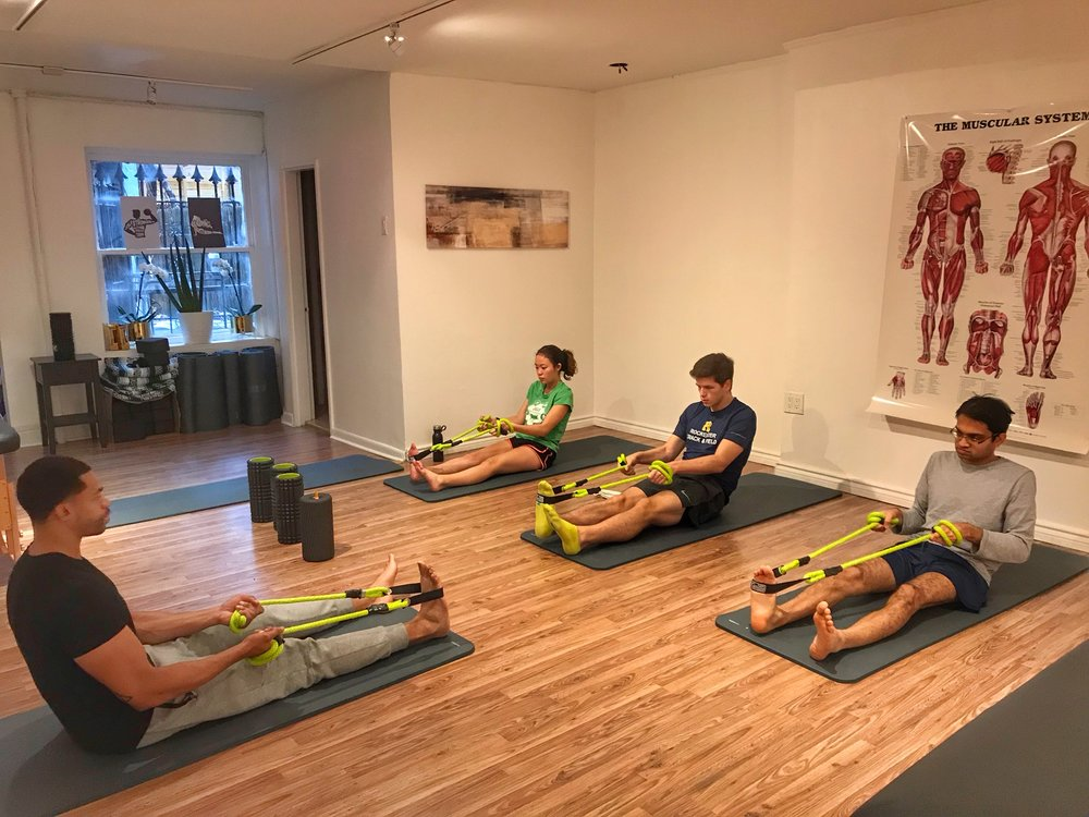 Group Stretch Classes - Designed to teach the proper stretching techniques that can be done in your own time. Choose from the following:1. Yoga Stretch (60 min)2. Endurance Stretch (45 min)3. Foam Rolling 101 (25 min)