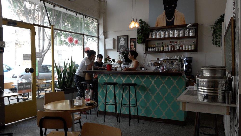 The interior of the Café Albi