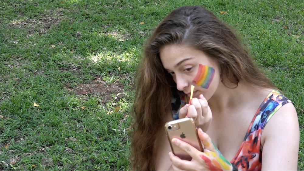 Participants of GayPride Tel Aviv 2018