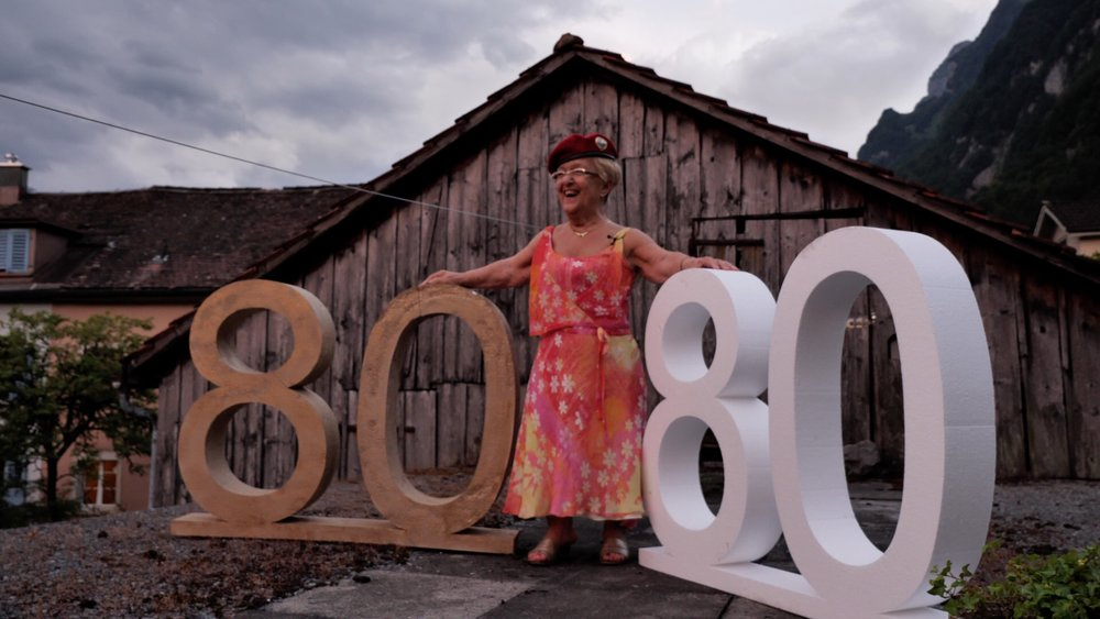 Olga on her 80. birthday