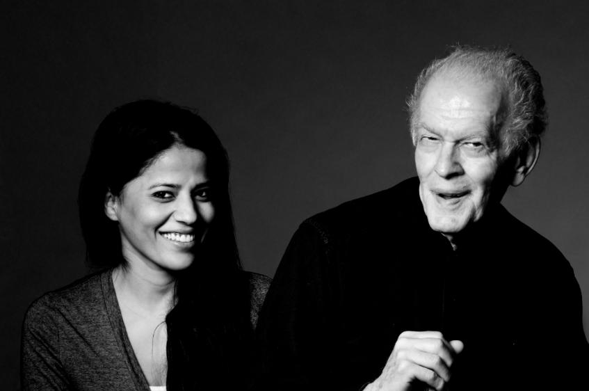Dr. Gene Sharp with Jamila Raqib, Executive Director of the Albert Einstein Institution
