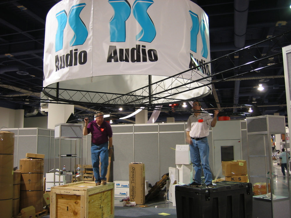 CEDIA trade show setup