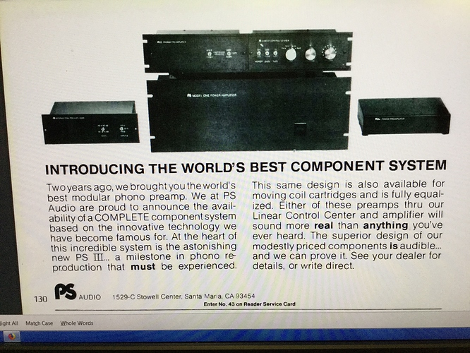 Our first advertisement for our complete system