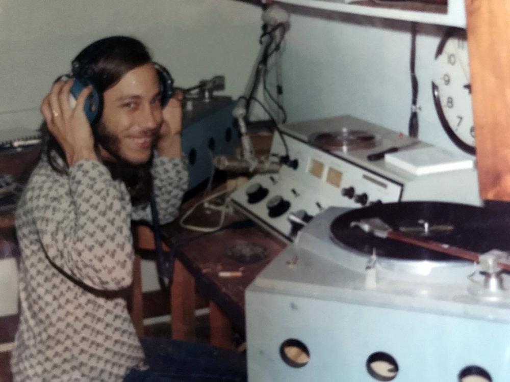 Me at KXFM radio