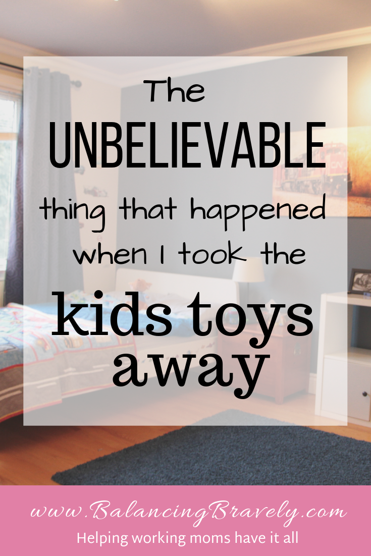 konmari toys - unbelievable thing that happened when I decluttered my kids toys