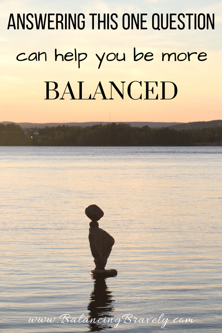 one question to improve work-life balance